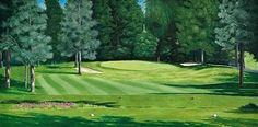 Rod McAuley Sunset Ranch Hole 15 by Rod McAuley Oil ~ 18 x 36