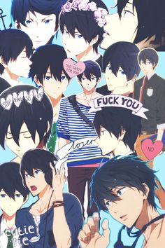 Haruka is adorable Anime Nerd, All Anime, Anime Guys, Manga Anime, Anime Lock Screen, Haruka Nanase, Makoharu, Swimming Anime, Anime Boyfriend