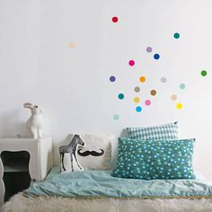 40 multi coloured confetti dot wall stickers by little baby company | notonthehighstreet.com