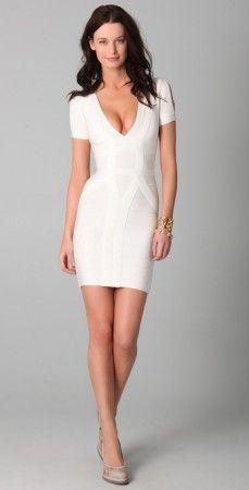 Slit-Sleeve Bandage Dress