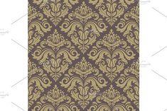 Oriental vector pattern with damask, arabesque and floral elements. Damask Patterns, Arabesque, Vector Pattern, Abstract Backgrounds, Oriental, Floral, Design, Decor, Decoration