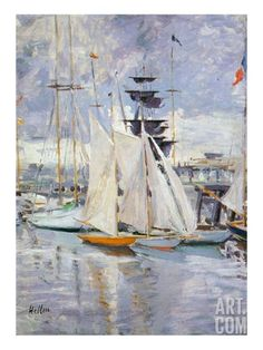 The Harbour, Deauville, Normandy, 1912 (Oil on Canvas) Giclee Print by Paul Cesar Helleu at Art.com 50