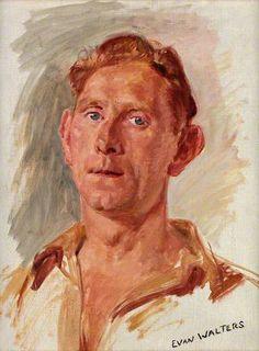 Portrait of a Young Man by Evan Walters Llyfrgell Genedlaethol Cymru / The National Library of Wales