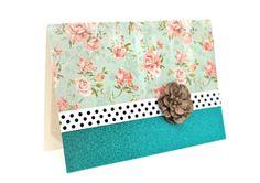 $5.00 Floral Greeting Card Blank Note Card Vintage by AmeliaRyCreations