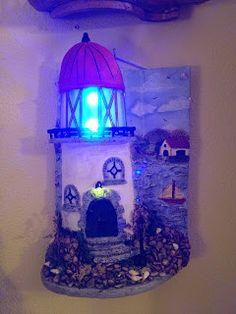 MANUALIDADES LA ANDALUZA: TEJAS Miniature Houses, Paper Clay, Night Light, Snow Globes, Cardboard Houses, Case, Bottle, Art Ideas, Crafts