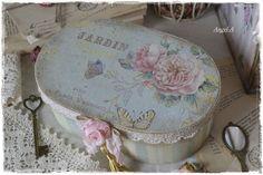 """Купить Деревянная шкатулка """"Jardin Botanique"""" - шкатулка, шкатулка деревянная, шкатулка декупаж, шкатулка для украшений"""