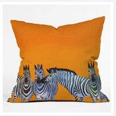 Found it at AllModern - Clara Nilles Candy Stripe Zebras Woven Polyester Throw Pillow