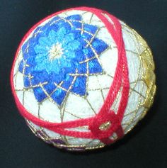 Japanese Floral Temari Ornament #etsyfollow
