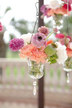 hanging bright flowers from Twigg Botanicals // photo by SundayRomance.com