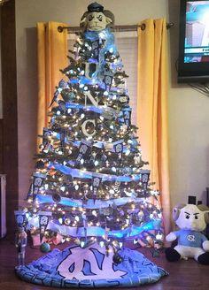 Carolina Vs Duke, Carolina Pride, Carolina Blue, Carolina Girls, Christmas In The City, Christmas Scenes, Tar Heels Football, Unc Chapel Hill, Christmas Tree Decorations