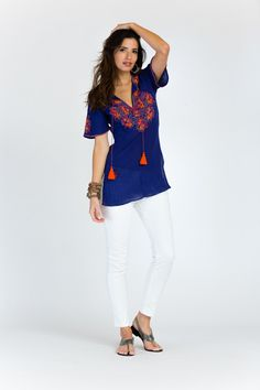 Sasha Flutter Sleeve Tunic from Sulu Collection