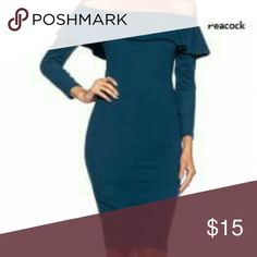 Sophia: The Off the Shoulder Midi Dress New without tags. Item runs small so I would recommend a size up depending on how you like it to fit. Made of polyester and spandex Exquisite Styles  Dresses Midi