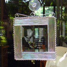Stained Glass Beveled Mother Verse Suncatcher, Mother Beveled Verse. $22.50, via Etsy.