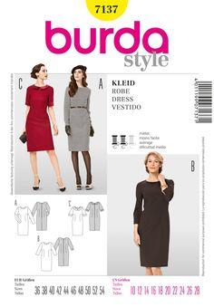 Das schlichte, taillierte Kleid bildet die Grundlage für unterschiedliche…
