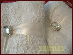 2 Ivory Ring Pillow with French Vintage by GorgeousComplements