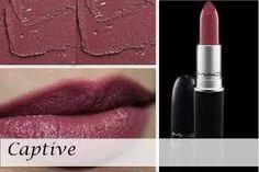 MAC Captive (Satin finish) lipstick - pinkish plum