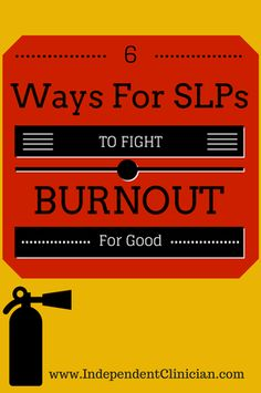 SLPs tend to LOVE their jobs - but every now and then burn out sets in. Here's how to fight it: https://www.independentclinician.com/blog/6-ways-to-beat-speech-pathology-burnout-for-good