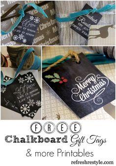 FREE Chalkboard Printables www.refreshrestyle.com #chaklkboardprintables #freeprintables