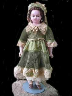 21inches Montanari wax doll, 1860-1880, collection of M.Lommel