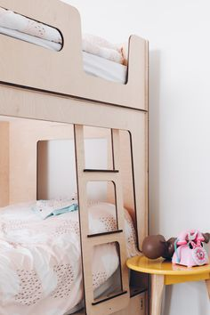 Scandi Kids Bunk Beds in Melbourne by Plyroom Bunk Beds For Girls Room, Adult Bunk Beds, Bunk Beds With Stairs, Kids Bunk Beds, Girls Bedroom, Kids Beds With Storage, Bed Storage, Modern Bunk Beds, One Bed