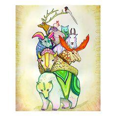 COEXISTING - ADRIENNE VITA   animal art, colorful   UncommonGoods