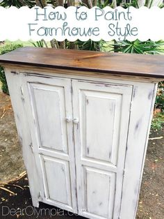How to paint a farmhouse style piece of furniture using cece caldwells natural chalk + clay paints
