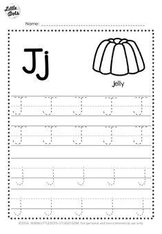 Free Letter J Tracing Worksheets Printable Alphabet Worksheets, Letter Worksheets For Preschool, Handwriting Worksheets, Phonics Worksheets, Kindergarten Worksheets, Handwriting Practice, Preschool Alphabet, Alphabet Crafts, Alphabet Letters