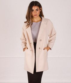 Lucinda-Oversized-Boyfriend-Wool-Coat-Jacket-AGJA17-cream | f r e e   p o s t  | Throw it over your Saturday night look or pants to look chic in the cold!