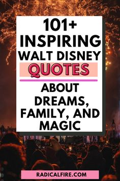 Do you want to get inspired? Walt Disney quotes are invaluable words from the man who dreamed of nothing but true happiness for everyone worldwide. Here are some Walt Disney quotes about dreams, family, and magic! Disney Dream Quotes, Walt Disney Quotes, Self Development, Personal Development, Dividend Investing, Creating Wealth, Financial Peace, True Happiness, You Are The World
