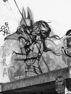 #batman #and #woman #kisses