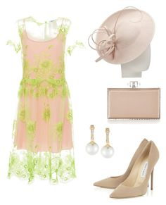 """""""Royal Ascot: lace"""" by laurenharty ❤ liked on Polyvore featuring Blugirl, Emily & Ashley, Judith Leiber and John Lewis"""