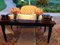Dining Bench, Wedding Ideas, Table, Furniture, Vintage, Home Decor, Decoration Home, Table Bench, Room Decor