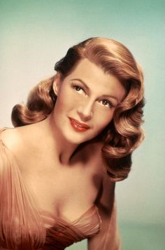 Rita Hayworth! the original pin-up girl. she is pure sex. but not just that, she's absolutely a great actress. and that fabulous red hair!
