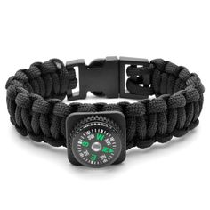 Buy Tailor Toki - Black Masculine Paracord Bracelet for only Shop at Trendhim and get returns. We take pride in providing an excellent experience. Paracord Bracelets, Bracelets For Men, Fashion Bracelets, Survival Prepping, Survival Gear, Survival Clothing, Survival Skills, Parachutes, Bracelet Cuir