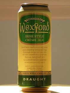 """""""Wexford Irish Cream Ale is based on a traditional Irish recipe from Wexford, Ireland which dates back to 1810.""""  5.0 ABV"""