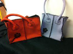 borsa in feltro arancio di LaSartoriaArtigiana su Etsy