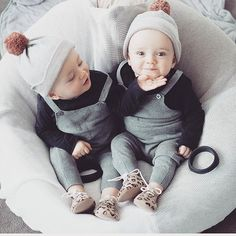 Double the cuteness! This gorgeous duo wear Wilson and frenchy knitted hats! Check them out online www.wilsonandfrenchy.com.au