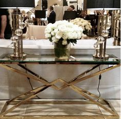 CONNOR CONSOLE GOLD   Console Tables   Tables   JAMES SAID