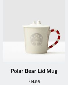 starbucks polar bear lid mug