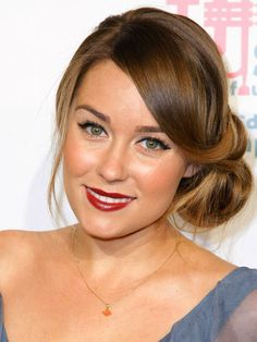 Love her make up! :) The Most Populer Side Bun Hairstyle Trendy on The Red Carpet in ...