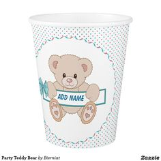 Party Teddy Bear Paper Cup