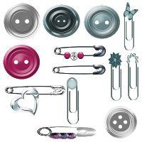 .: Alfinetes,argolas,clips e botões