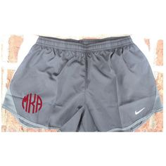Monogrammed Nike Women's Dri-Fit Running Shorts in Black Ships in 1-2... ($36) ❤ liked on Polyvore