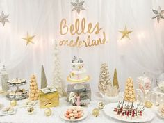 Sweet Table from a Winter ONEderland Birthday Party via Kara's Party Ideas KarasPartyIdeas.com (10)