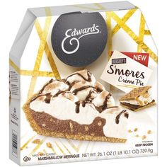 MUST HAVE for your next Summer Party. This pie will be a BIG hit - all the deliciousness of S'mores, without the mess!!! #OwnTheOccasion #GotItFree @EdwardsDesserts