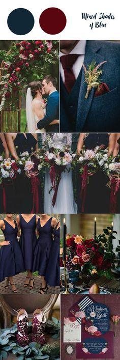 Blue Wedding Flowers Navy blue with burgendy Burgendy Wedding, Blue Wedding, Wedding Flowers, Dream Wedding, Rustic Wedding, Wedding Dress, Winter Wedding Bridesmaids, Fall Wedding Colors, Wedding Color Schemes