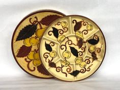 Vintage Divided Serving Dish in Lacquer Box - Vintage Japanese Serving Platter - Divided Serving Tray - Japanese Decor - Asian Home Decor