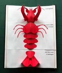 You can make different creatures by flipping different pages. A very cool pop-up book.