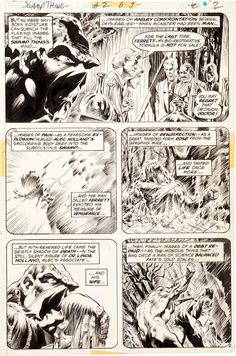 """Bernie Wrightson Swamp Thing #2 """"The Man Who Wanted Forever"""" Page 2"""