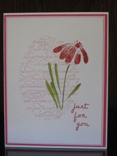 FS324 Flower for YOU! by jdmommy - Cards and Paper Crafts at Splitcoaststampers